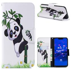Bamboo Panda Leather Wallet Case for Huawei Mate 20 Lite