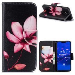 Lotus Flower Leather Wallet Case for Huawei Mate 20 Lite