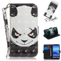 Angry Bear 3D Painted Leather Wallet Phone Case for Huawei Mate 20 Lite