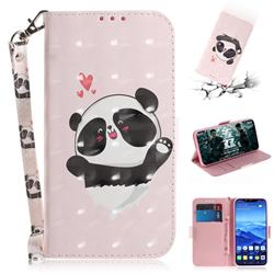 Heart Cat 3D Painted Leather Wallet Phone Case for Huawei Mate 20 Lite