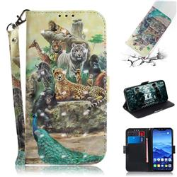 Beast Zoo 3D Painted Leather Wallet Phone Case for Huawei Mate 20 Lite