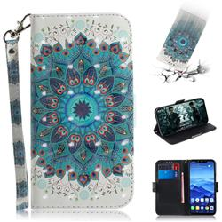 Peacock Mandala 3D Painted Leather Wallet Phone Case for Huawei Mate 20 Lite