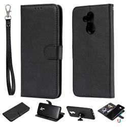 Retro Greek Detachable Magnetic PU Leather Wallet Phone Case for Huawei Mate 20 Lite - Black