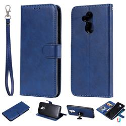 Retro Greek Detachable Magnetic PU Leather Wallet Phone Case for Huawei Mate 20 Lite - Blue