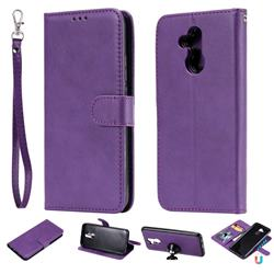 Retro Greek Detachable Magnetic PU Leather Wallet Phone Case for Huawei Mate 20 Lite - Purple