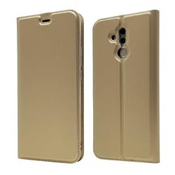 Ultra Slim Card Magnetic Automatic Suction Leather Wallet Case for Huawei Mate 20 Lite - Champagne