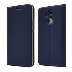 Ultra Slim Card Magnetic Automatic Suction Leather Wallet Case for Huawei Mate 20 Lite - Royal Blue