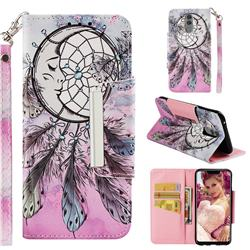 Angel Monternet Big Metal Buckle PU Leather Wallet Phone Case for Huawei Mate 20 Lite