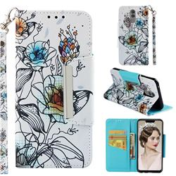 Fotus Flower Big Metal Buckle PU Leather Wallet Phone Case for Huawei Mate 20 Lite
