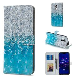 Sea Sand 3D Painted Leather Phone Wallet Case for Huawei Mate 20 Lite