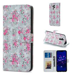 Roses Flower 3D Painted Leather Phone Wallet Case for Huawei Mate 20 Lite