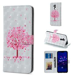 Sakura Flower Tree 3D Painted Leather Phone Wallet Case for Huawei Mate 20 Lite