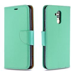 Classic Luxury Litchi Leather Phone Wallet Case for Huawei Mate 20 Lite - Green