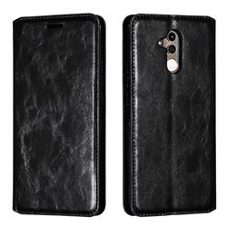 Retro Slim Magnetic Crazy Horse PU Leather Wallet Case for Huawei Mate 20 Lite - Black