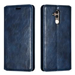 Retro Slim Magnetic Crazy Horse PU Leather Wallet Case for Huawei Mate 20 Lite - Blue