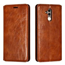 Retro Slim Magnetic Crazy Horse PU Leather Wallet Case for Huawei Mate 20 Lite - Brown