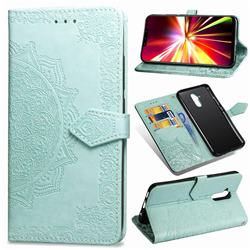 Embossing Imprint Mandala Flower Leather Wallet Case for Huawei Mate 20 Lite - Green