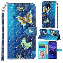 Rankine Butterfly 3D Leather Phone Holster Wallet Case for Huawei Mate 20 Lite