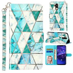 Stitching Marble 3D Leather Phone Holster Wallet Case for Huawei Mate 20 Lite