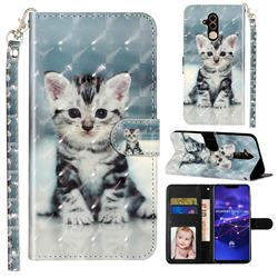 Kitten Cat 3D Leather Phone Holster Wallet Case for Huawei Mate 20 Lite