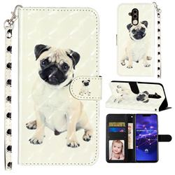 Pug Dog 3D Leather Phone Holster Wallet Case for Huawei Mate 20 Lite