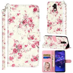 Rambler Rose Flower 3D Leather Phone Holster Wallet Case for Huawei Mate 20 Lite
