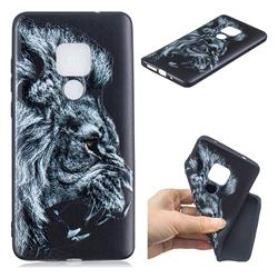 Lion 3D Embossed Relief Black TPU Cell Phone Back Cover for Huawei Mate 20 Pro