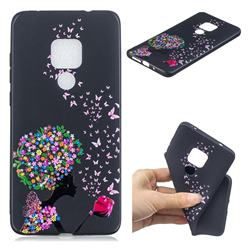 Corolla Girl 3D Embossed Relief Black TPU Cell Phone Back Cover for Huawei Mate 20 Pro
