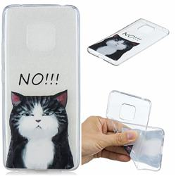 Cat Say No Clear Varnish Soft Phone Back Cover for Huawei Mate 20 Pro