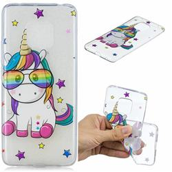 Glasses Unicorn Clear Varnish Soft Phone Back Cover for Huawei Mate 20 Pro