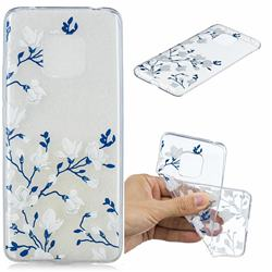 Magnolia Flower Clear Varnish Soft Phone Back Cover for Huawei Mate 20 Pro