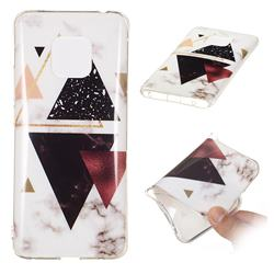 Four Triangular Soft TPU Marble Pattern Phone Case for Huawei Mate 20 Pro
