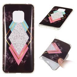Black Diamond Soft TPU Marble Pattern Phone Case for Huawei Mate 20 Pro