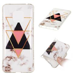 Inverted Triangle Black Soft TPU Marble Pattern Phone Case for Huawei Mate 20 Pro