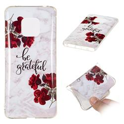 Rose Soft TPU Marble Pattern Phone Case for Huawei Mate 20 Pro
