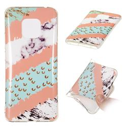 Diagonal Grass Soft TPU Marble Pattern Phone Case for Huawei Mate 20 Pro