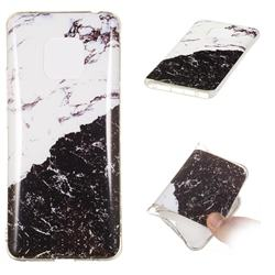 Black and White Soft TPU Marble Pattern Phone Case for Huawei Mate 20 Pro