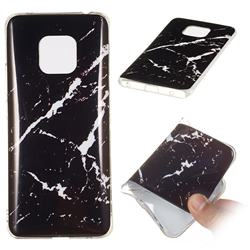 Black Rough white Soft TPU Marble Pattern Phone Case for Huawei Mate 20 Pro