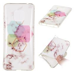Hexagonal Soft TPU Marble Pattern Phone Case for Huawei Mate 20 Pro