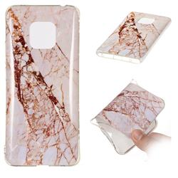 White Crushed Soft TPU Marble Pattern Phone Case for Huawei Mate 20 Pro