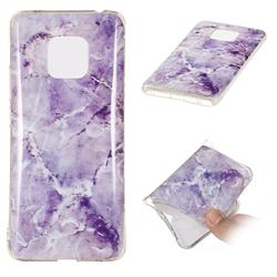 Light Gray Soft TPU Marble Pattern Phone Case for Huawei Mate 20 Pro