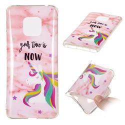Unicorn Soft TPU Marble Pattern Phone Case for Huawei Mate 20 Pro