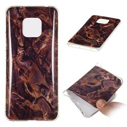 Brown Soft TPU Marble Pattern Phone Case for Huawei Mate 20 Pro