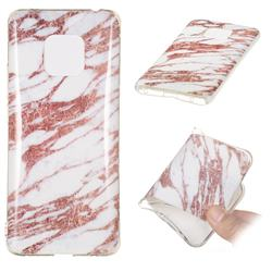 Rose Gold Grain Soft TPU Marble Pattern Phone Case for Huawei Mate 20 Pro