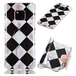 Black and White Matching Soft TPU Marble Pattern Phone Case for Huawei Mate 20 Pro
