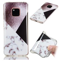 Black white Grey Soft TPU Marble Pattern Phone Case for Huawei Mate 20 Pro