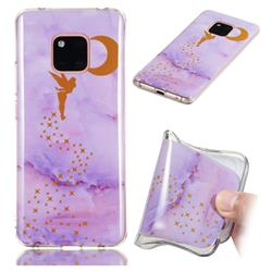 Elf Purple Soft TPU Marble Pattern Phone Case for Huawei Mate 20 Pro