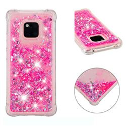 Dynamic Liquid Glitter Sand Quicksand TPU Case for Huawei Mate 20 Pro - Pink Love Heart