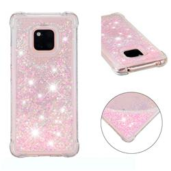 Dynamic Liquid Glitter Sand Quicksand TPU Case for Huawei Mate 20 Pro - Silver Powder Star