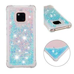 Dynamic Liquid Glitter Sand Quicksand TPU Case for Huawei Mate 20 Pro - Silver Blue Star